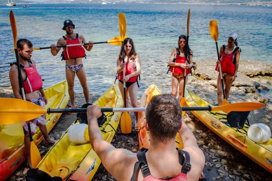 sea kayaking romantic tour panoramic view beach in split things to do kayaking cliff jumping