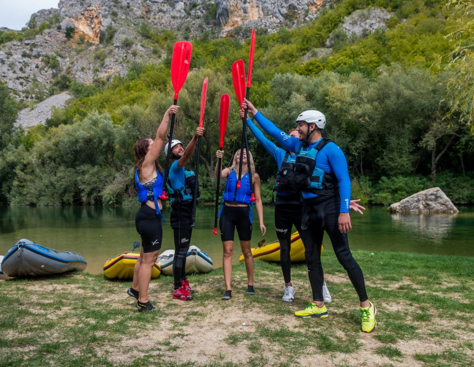 extreme rafting white water split cetina river trogir omis