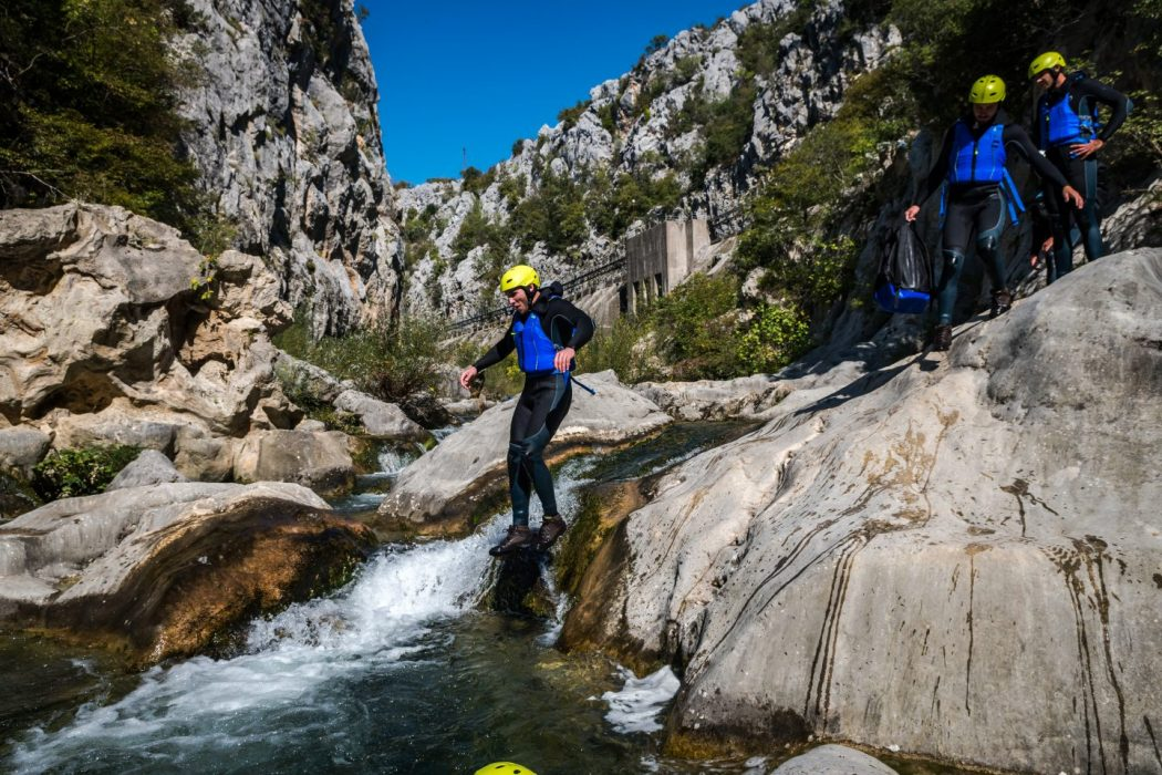 extreme canyoning split white water canyon adrenaline things to do in split must do zip line cetina river omis