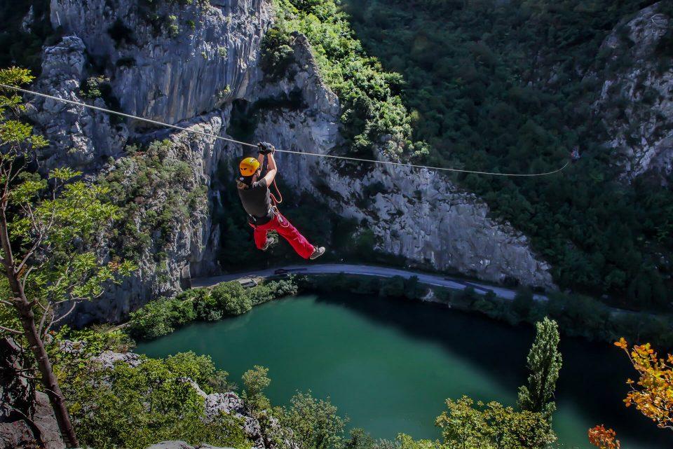 zipline zip line adventure croatia split cetina panormaic view adrenaline