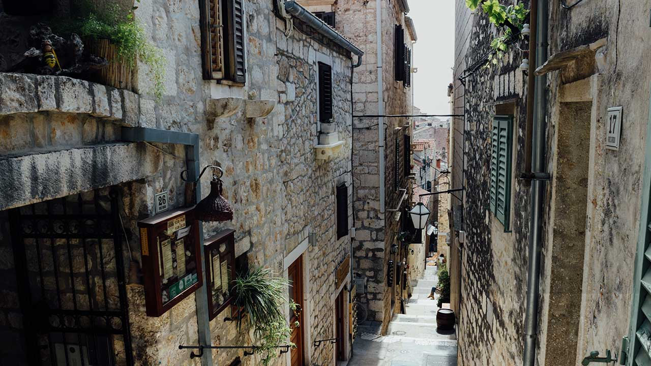 Dubrovnik street's old town