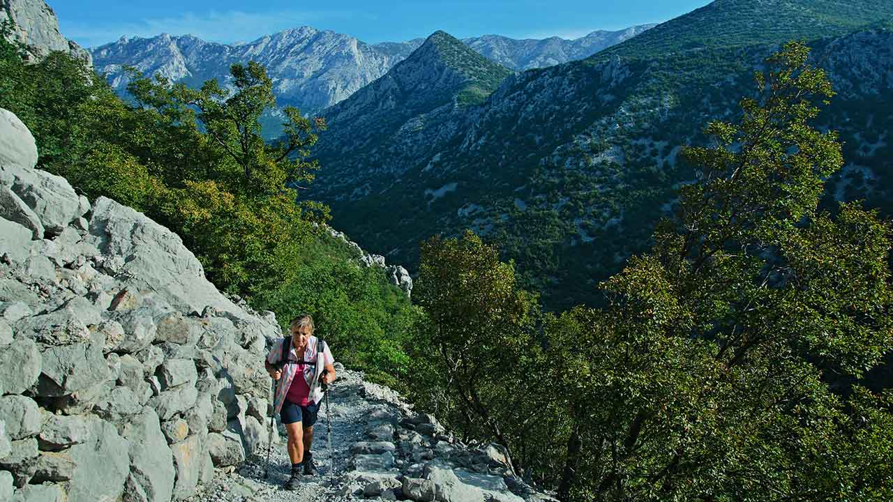 Hiking tours in Europe in Croatia