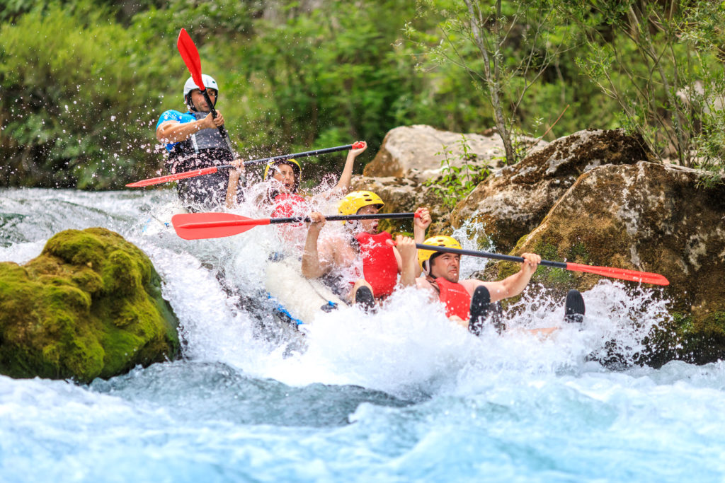 Cetina River extreme rafting Croatia Go Adventure travel agency