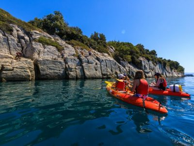 Cliff jumping in Split on Marjan