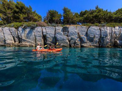 Paddling from Bene beach to Kasjuni beach in Split
