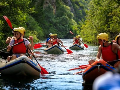 Start point of rafting on the Cetina river