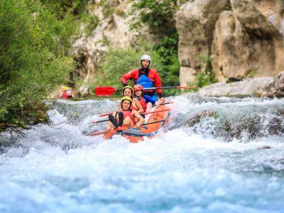 White river rafting in Croatia
