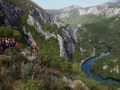 Zipline canyon of Cetina in Omis