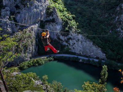Get your guide zipline tours from Split