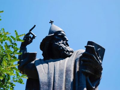 The 8,5m tall statue of Gregory of Nin