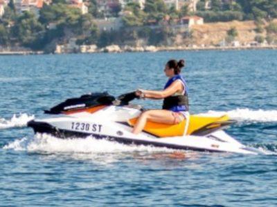 Driving a jet ski in Split