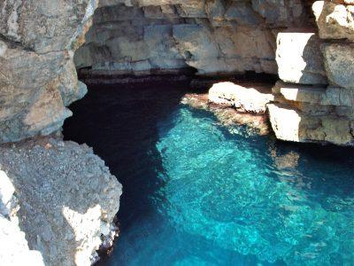 Odysseus Cave on the island of Mljet