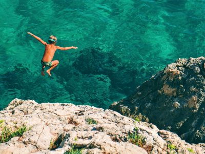 Jump into the beautiful sea