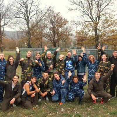Paintball split croatia, team building activities