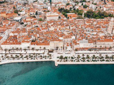 Riva promenade & the town of Split
