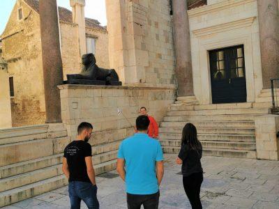 Secret of Egyptian sphinx in Split city